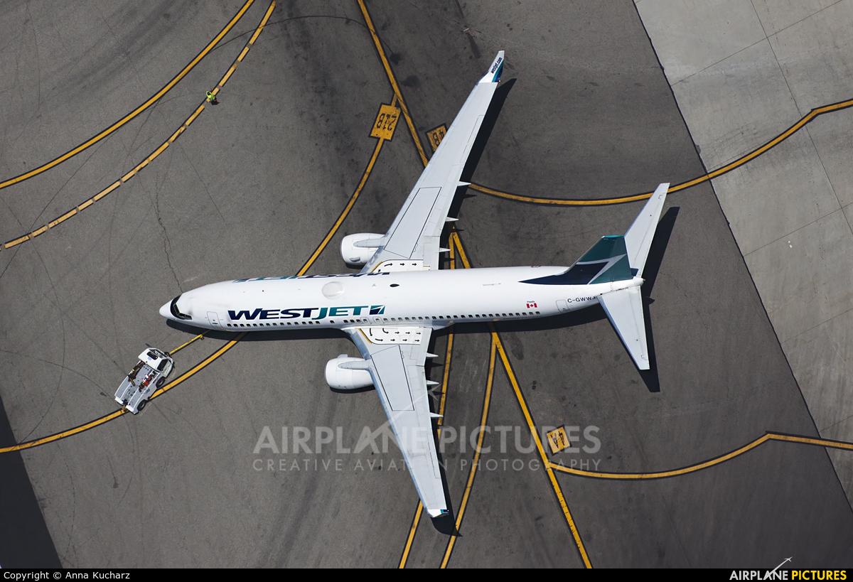 WestJet Airlines C-GWWJ aircraft at Los Angeles Intl