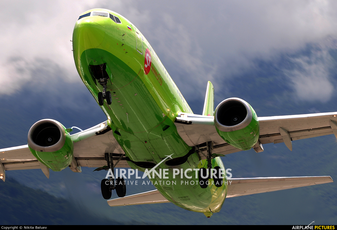 S7 Airlines VP-BQG aircraft at Tivat