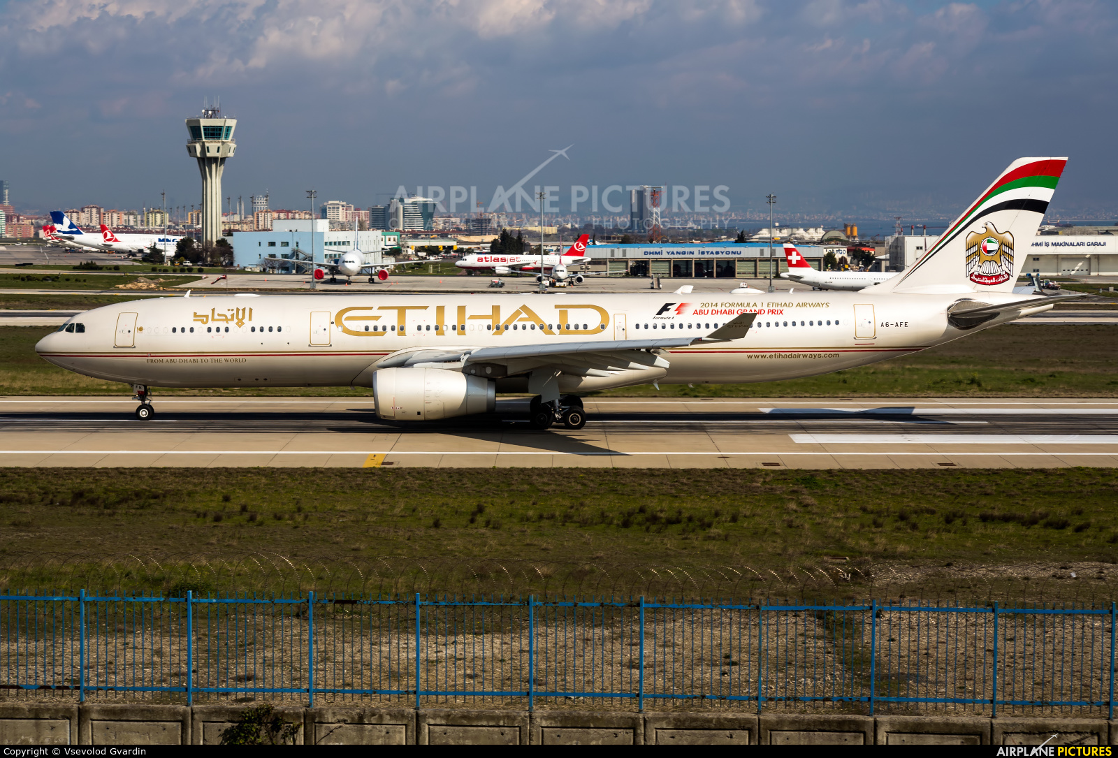 Etihad Airways A6-AFE aircraft at Istanbul - Ataturk