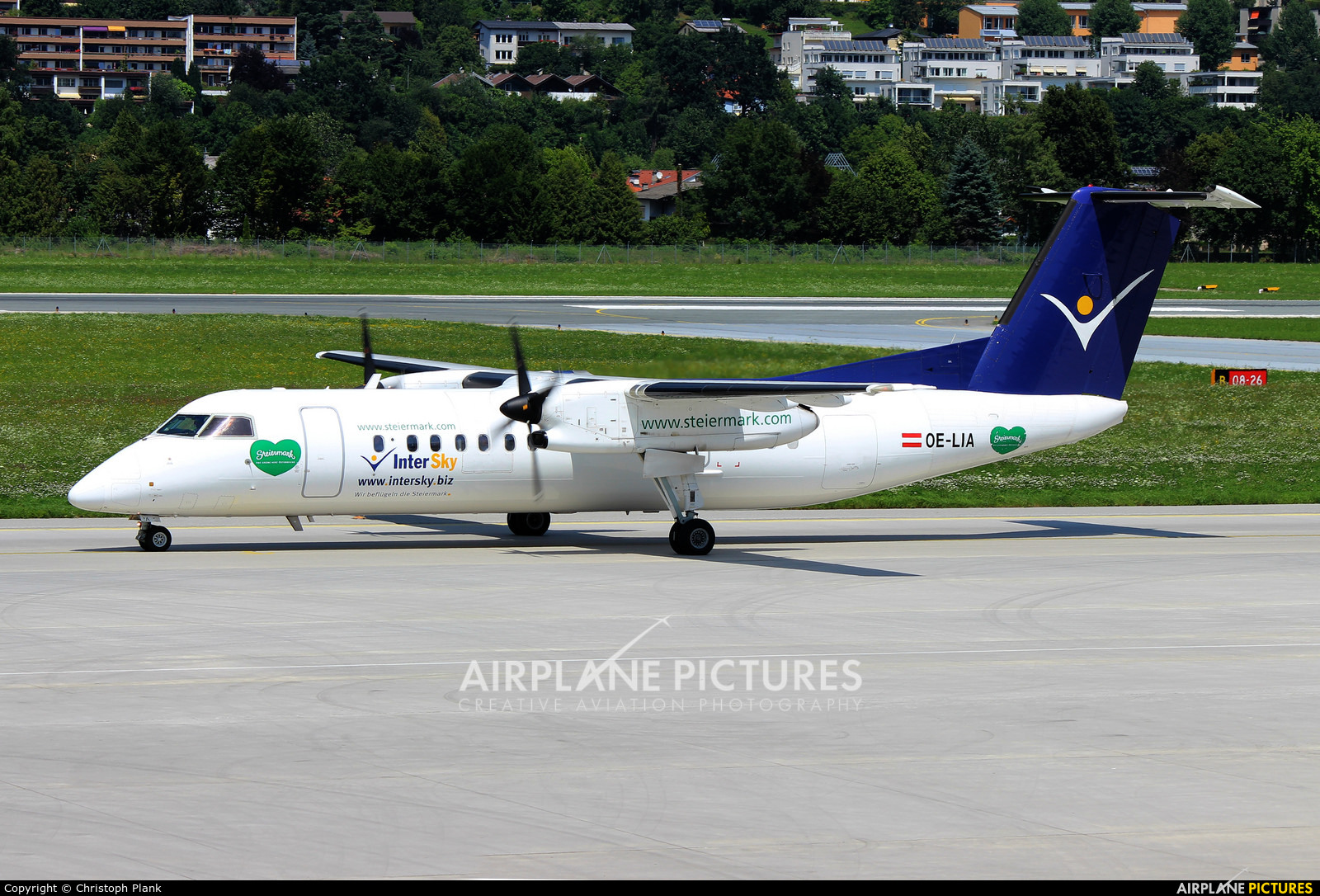Intersky OE-LIA aircraft at Innsbruck