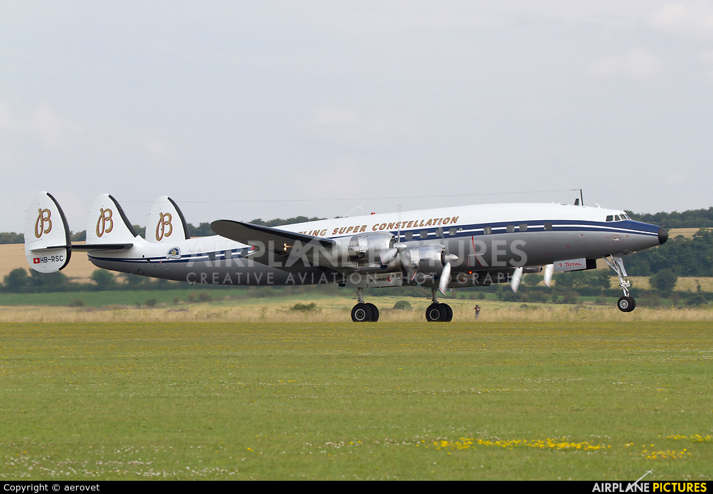 Super Constellation Flyers HB-RSC aircraft at Duxford