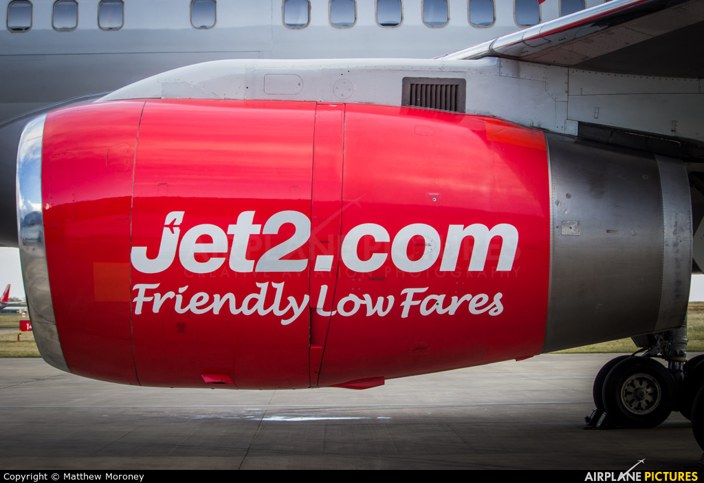 Jet2 G-LSAJ aircraft at Leeds Bradford