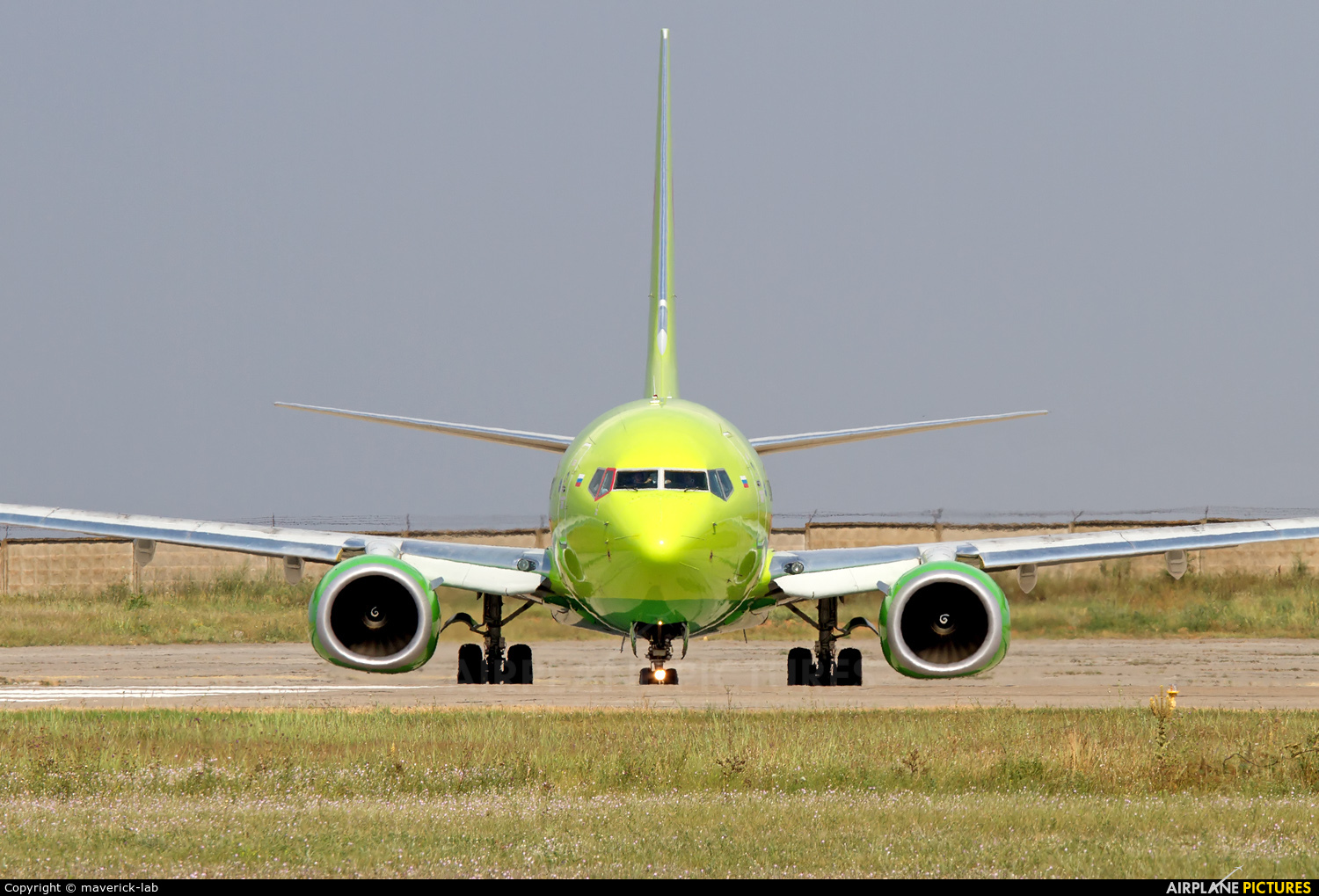 S7 Airlines VQ-BKV aircraft at Simferopol International Airport (under Russian occupation)