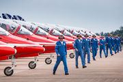 """- - Royal Air Force """"Red Arrows"""" - Airport Overview - Apron aircraft"""