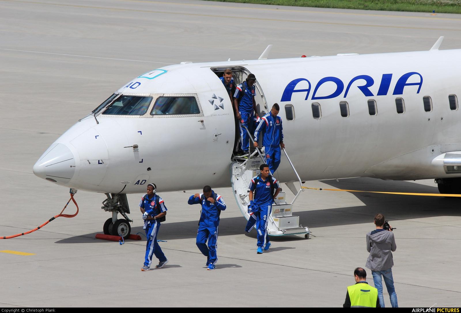 Adria Airways S5-AAD aircraft at Innsbruck