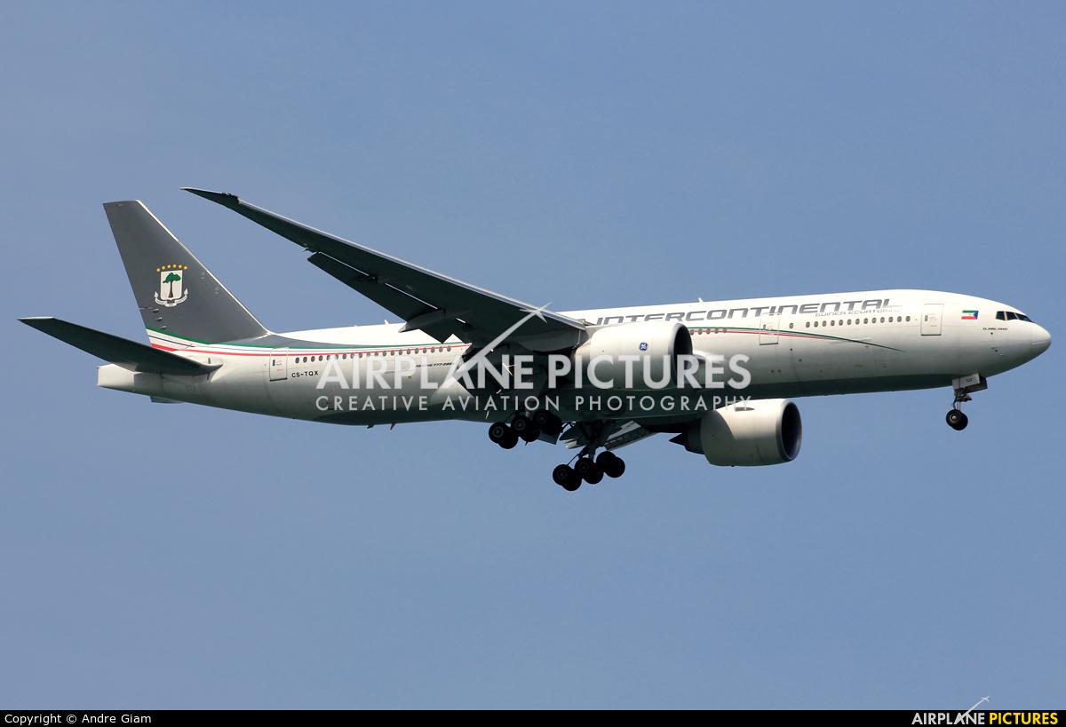 Ceiba Intercontinental CS-TQX aircraft at Singapore - Changi