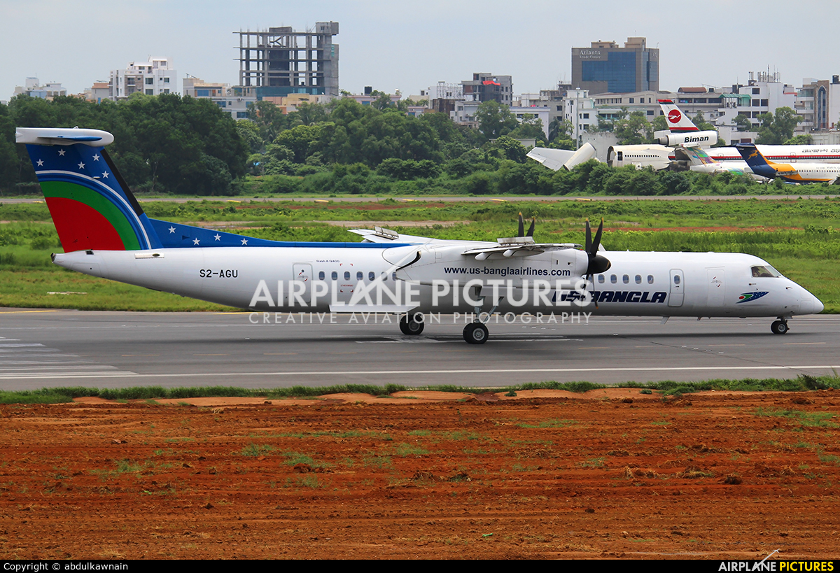 US-Bangla S2-AGU aircraft at Dhaka - Hazrat Shahjala Intl