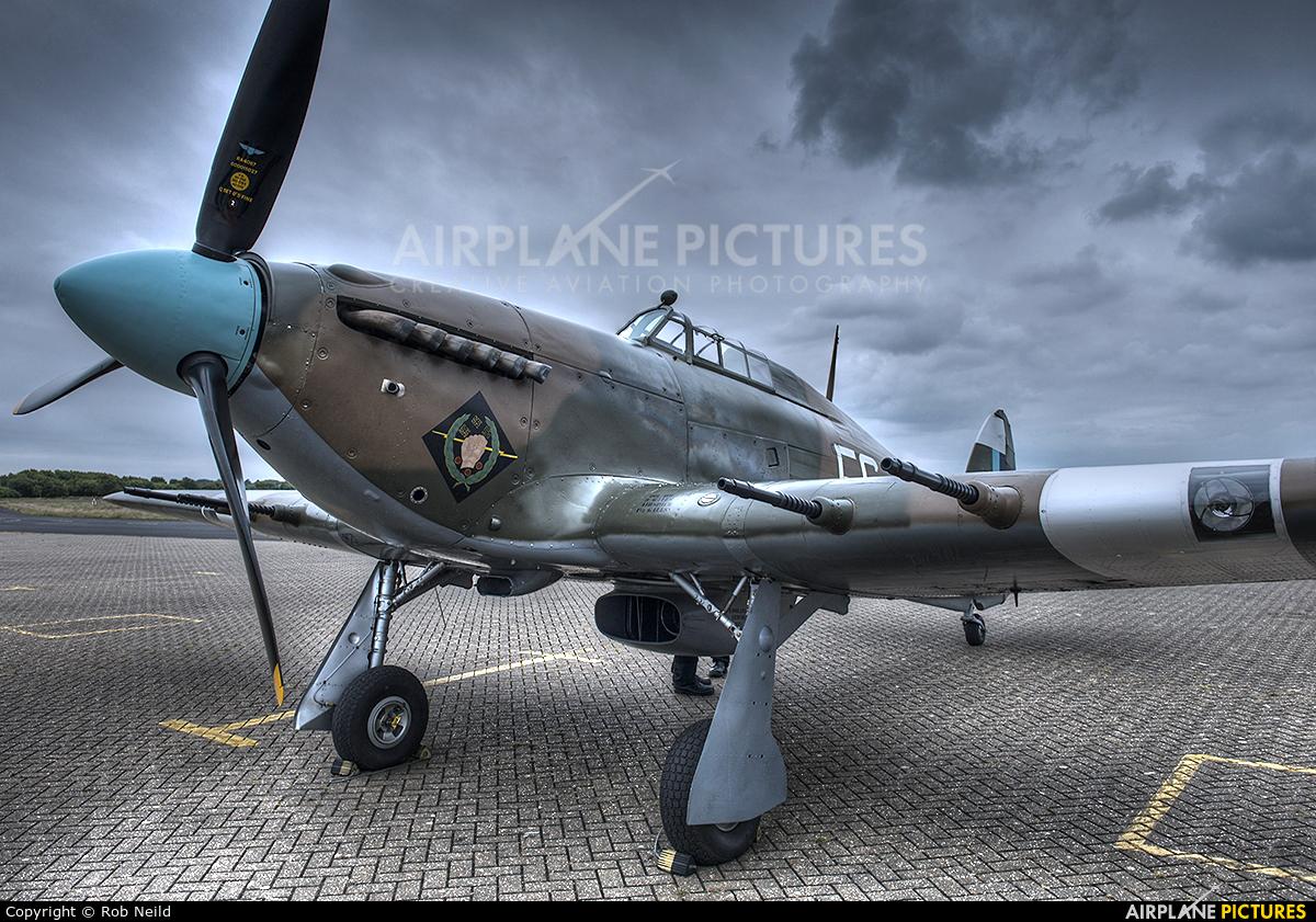 """Royal Air Force """"Battle of Britain Memorial Flight"""" PZ865 aircraft at Royal Air Force Woodvale"""
