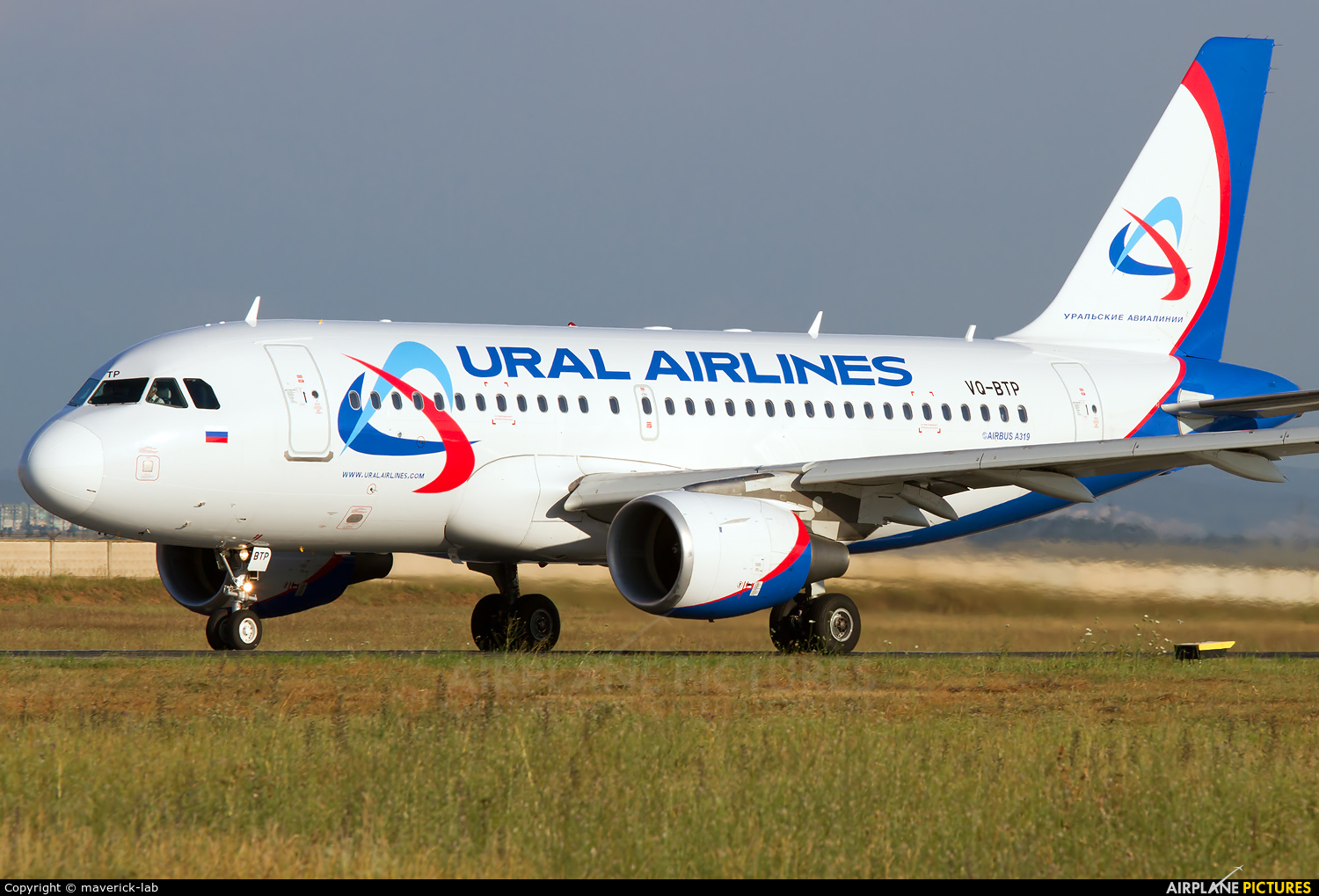 Ural Airlines VQ-BTP aircraft at Simferepol Intl