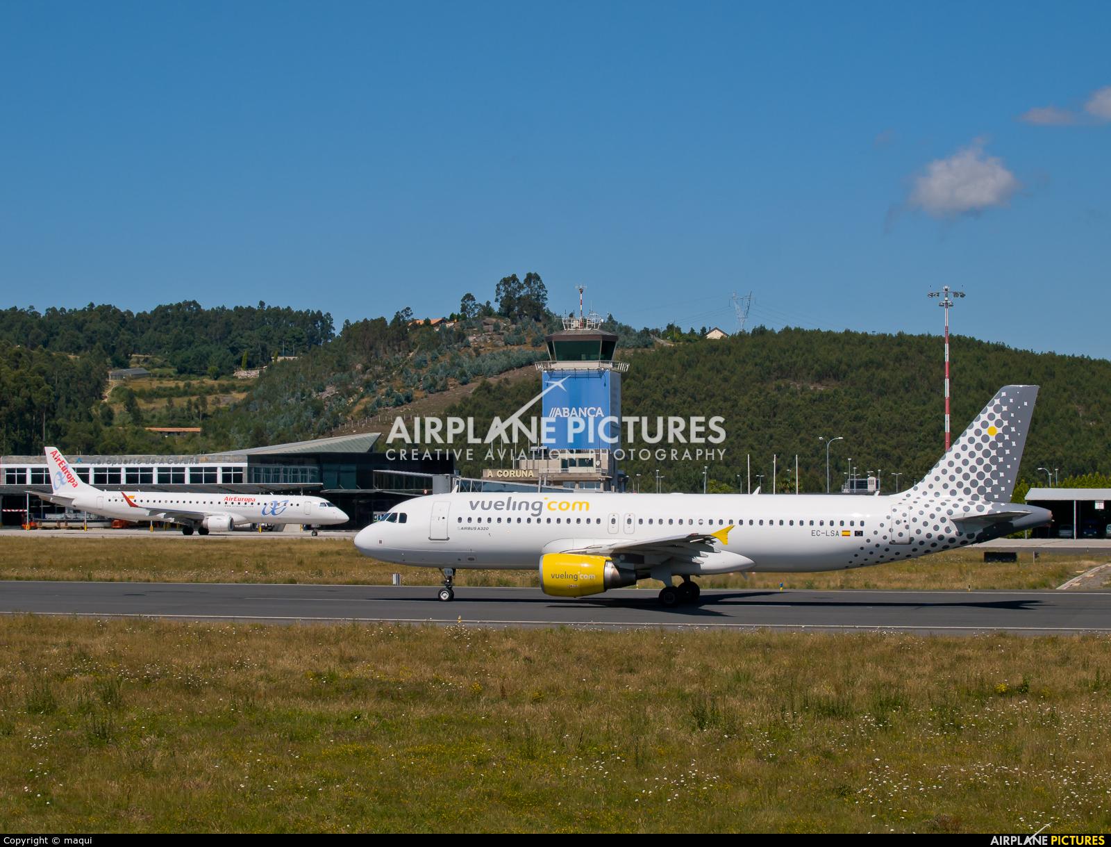 Vueling Airlines EC-LSA aircraft at La Coruña