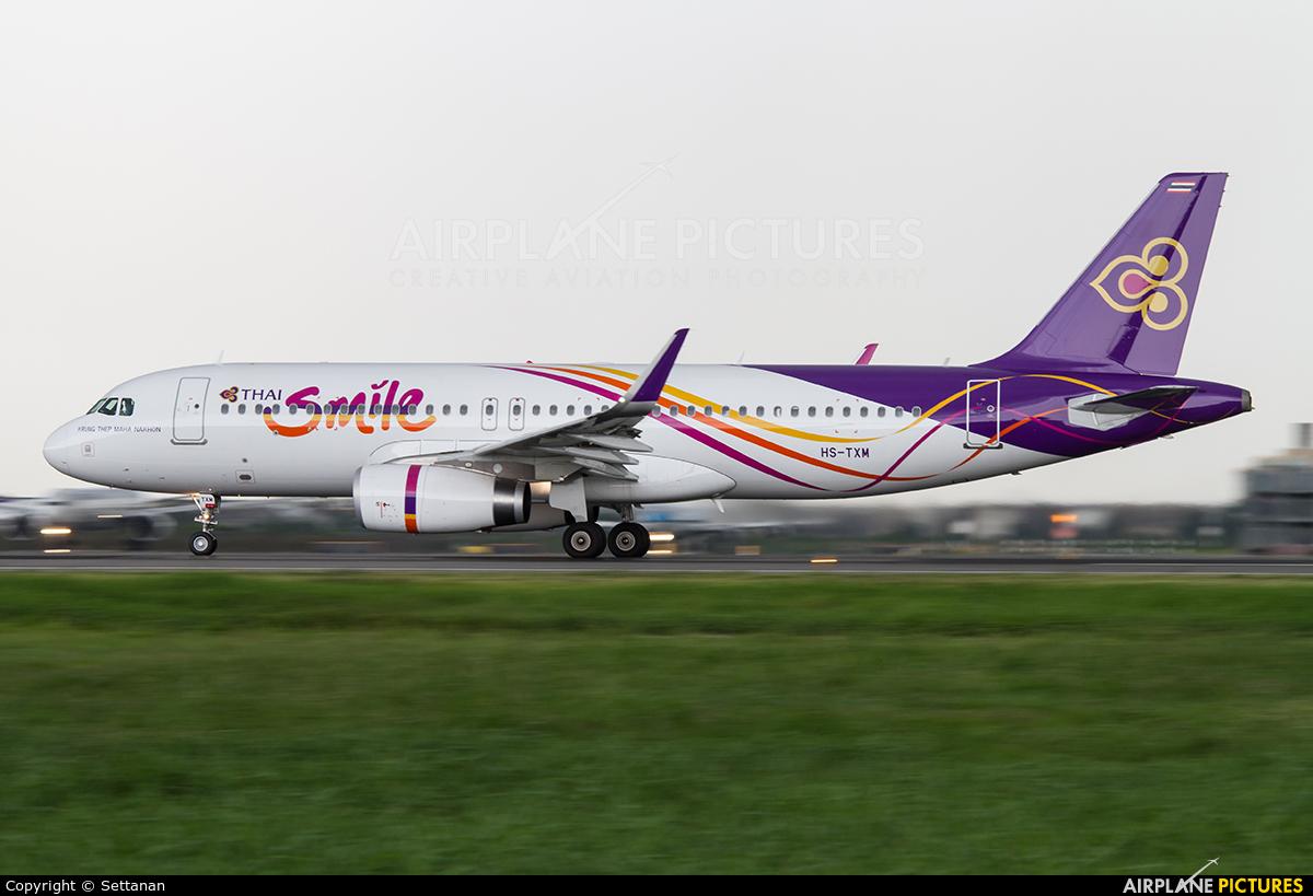 Thai Smile HS-TXM aircraft at Bangkok - Suvarnabhumi