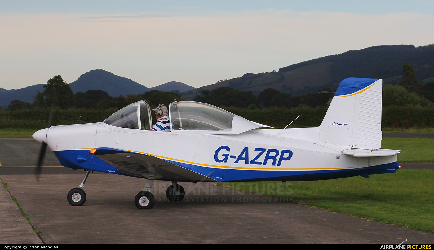 Private G-AZRP aircraft at Welshpool
