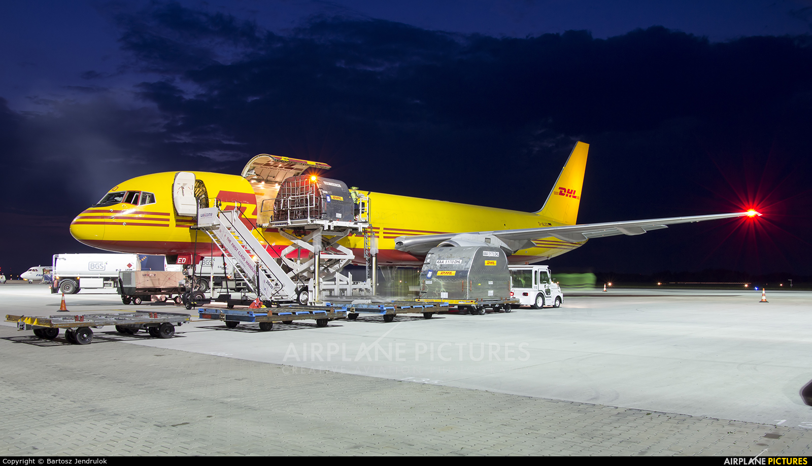 DHL Cargo D-ALED aircraft at Katowice - Pyrzowice