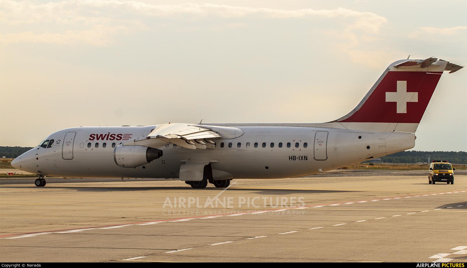 Swiss HB-IXN aircraft at Frankfurt