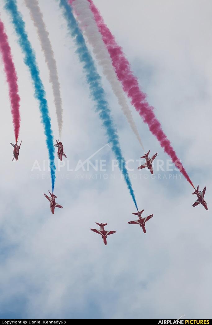 "Royal Air Force ""Red Arrows"" XX322 aircraft at Cleethorpes"