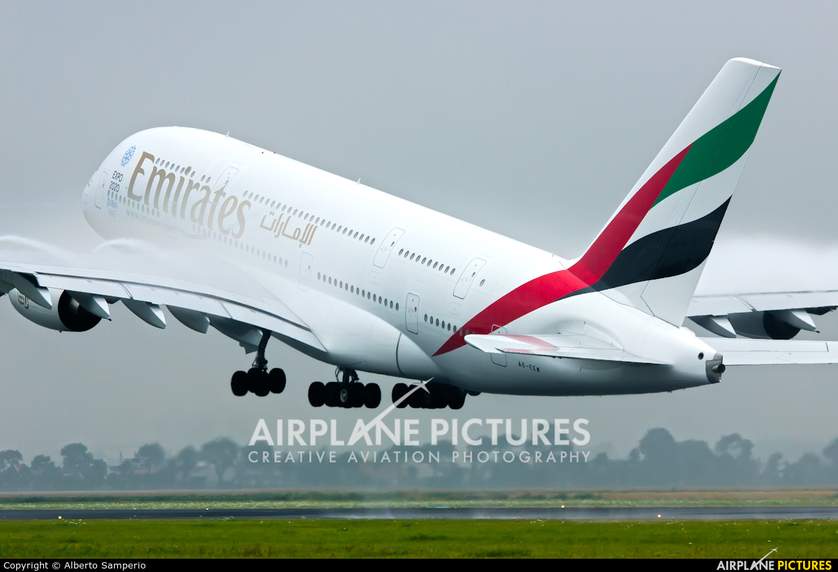 Emirates Airlines A6-EEW aircraft at Amsterdam - Schiphol