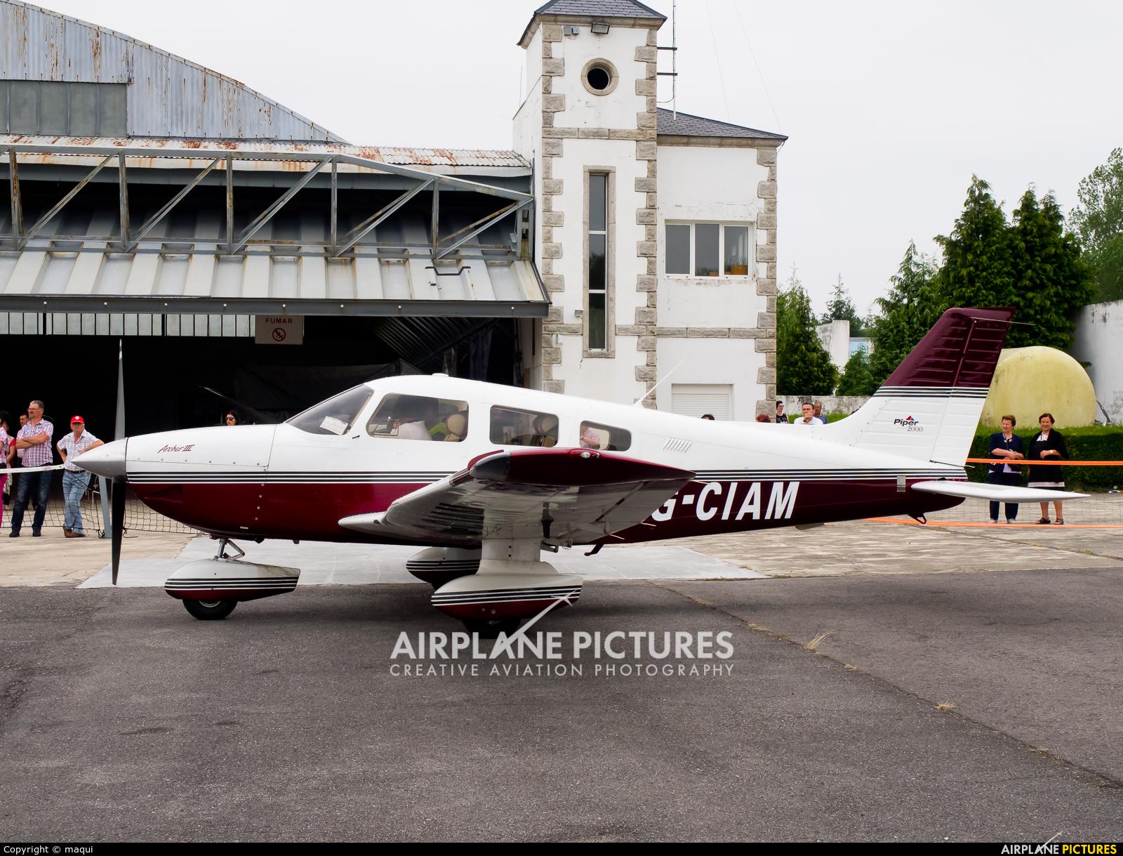 Private G-CIAM aircraft at Lugo - Rozas