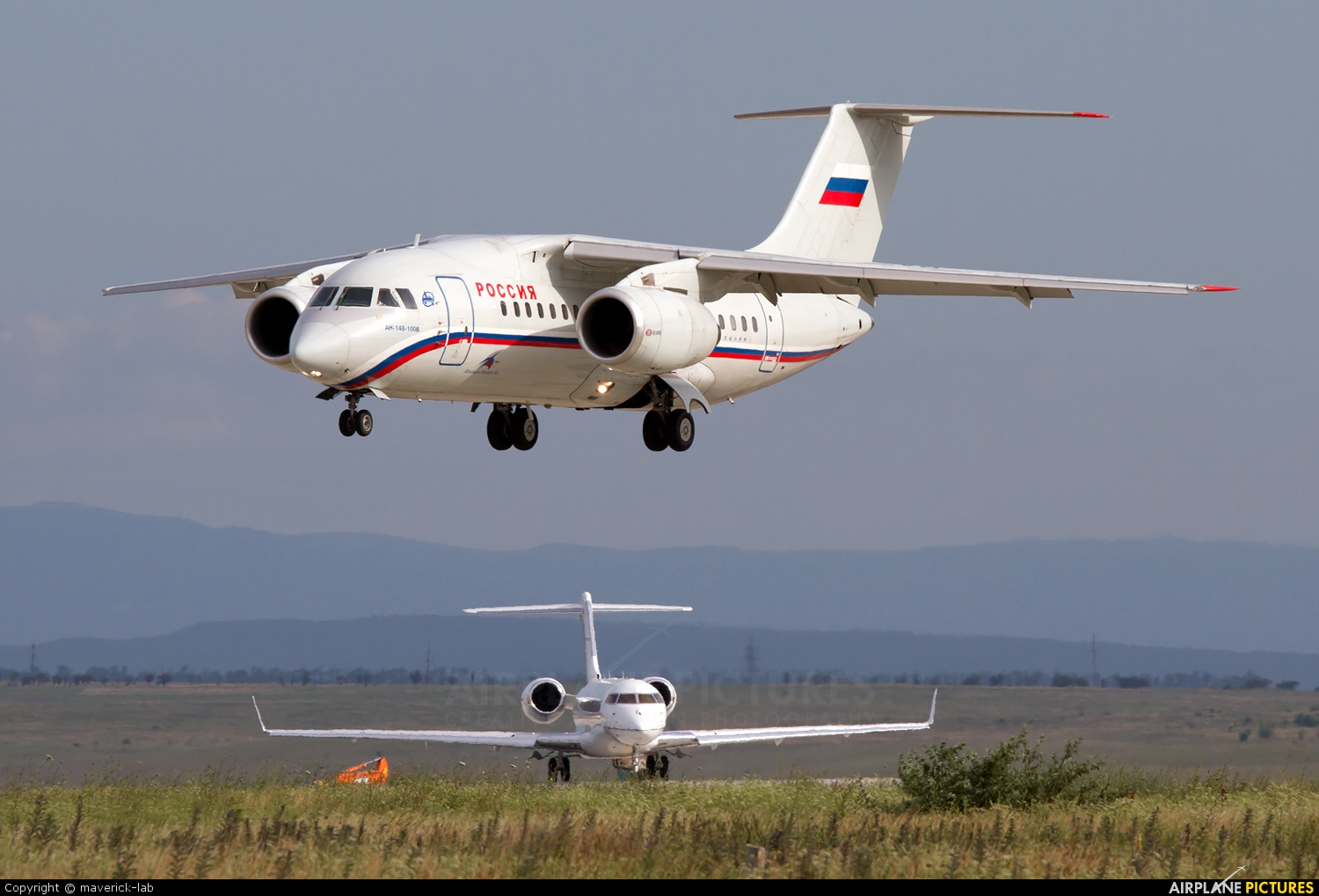 Rossiya RA-61702 aircraft at Simferopol International Airport (under Russian occupation)