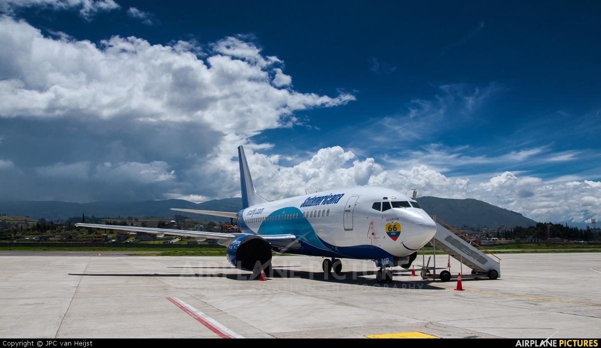 Sudamericana HC-COP aircraft at Latacunga - Cotopaxi