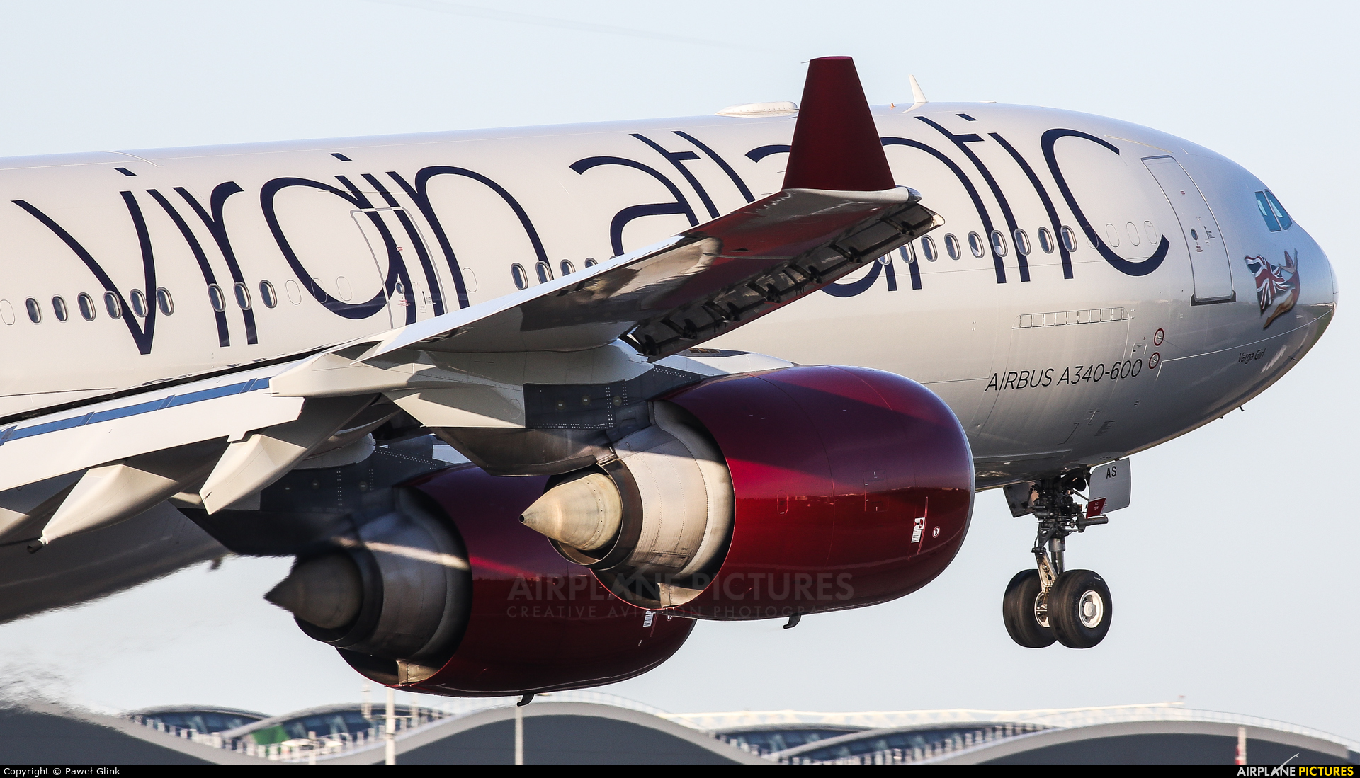 Virgin Atlantic G-VGAS aircraft at London - Heathrow
