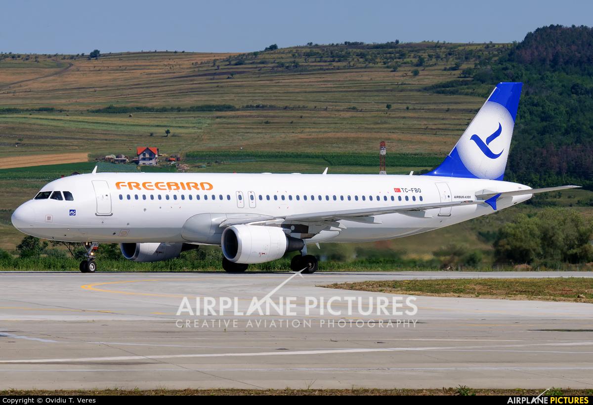 FreeBird Airlines TC-FBO aircraft at Cluj Napoca - Someseni