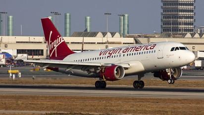 N522VA - Virgin America Airbus A319