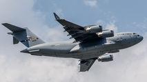 USAF C-17A's refueled in Sofia title=