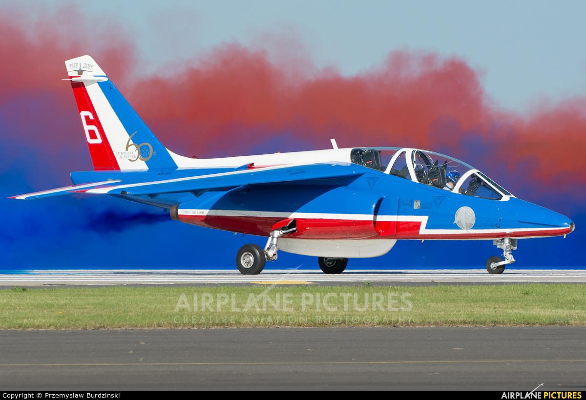 """France - Air Force """"Patrouille de France"""" E114 aircraft at Waddington"""