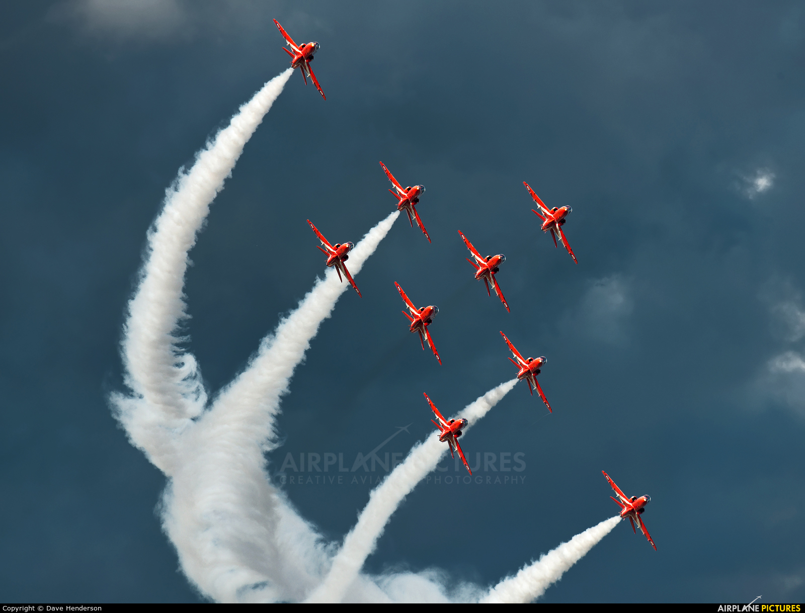 "Royal Air Force ""Red Arrows"" XX322 aircraft at Newcastle - Off Airport"