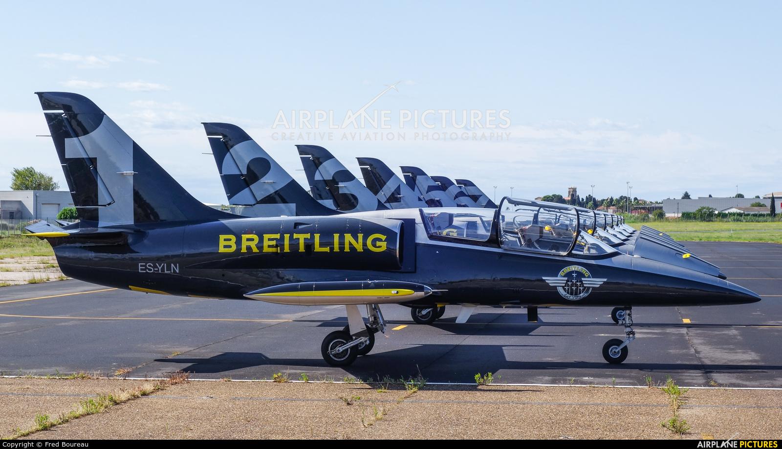 Breitling Jet Team ES-YLN aircraft at Montpellier-Méditerranée