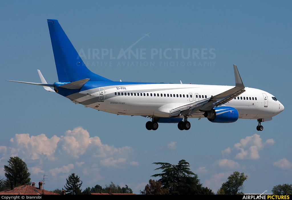 Meridiana EI-FFK aircraft at Bologna - Borgo Panigale