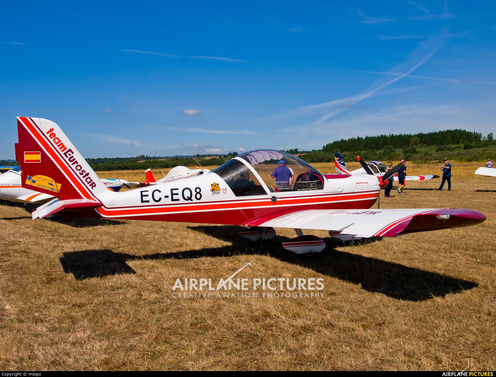 """Private EC-EQ8 aircraft at Campo de vuelo """"As Lamas"""""""