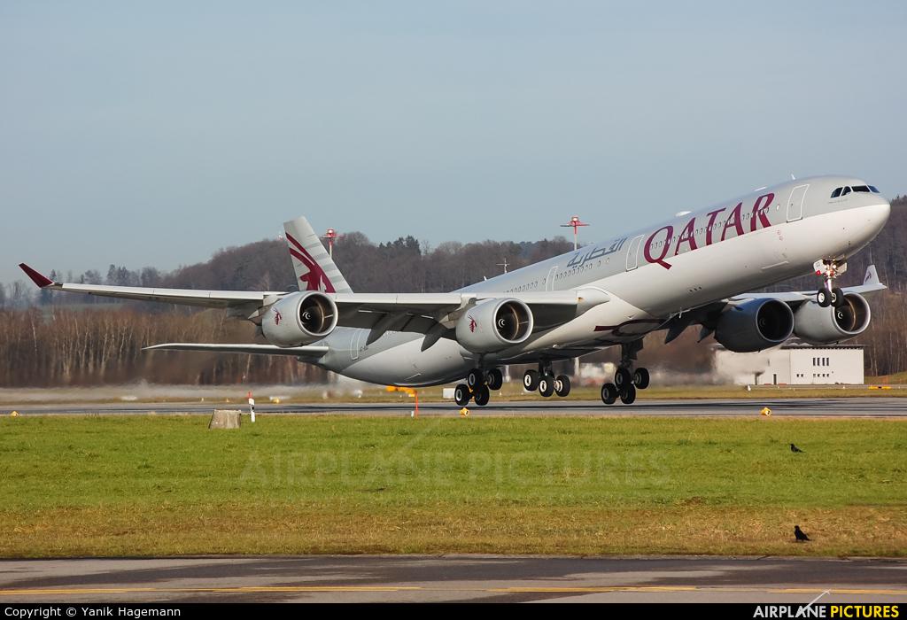 Qatar Airways A7-AGD aircraft at Zurich