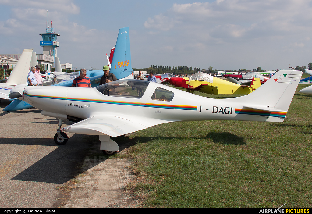 Private I-DAGI aircraft at Reggio Emilia