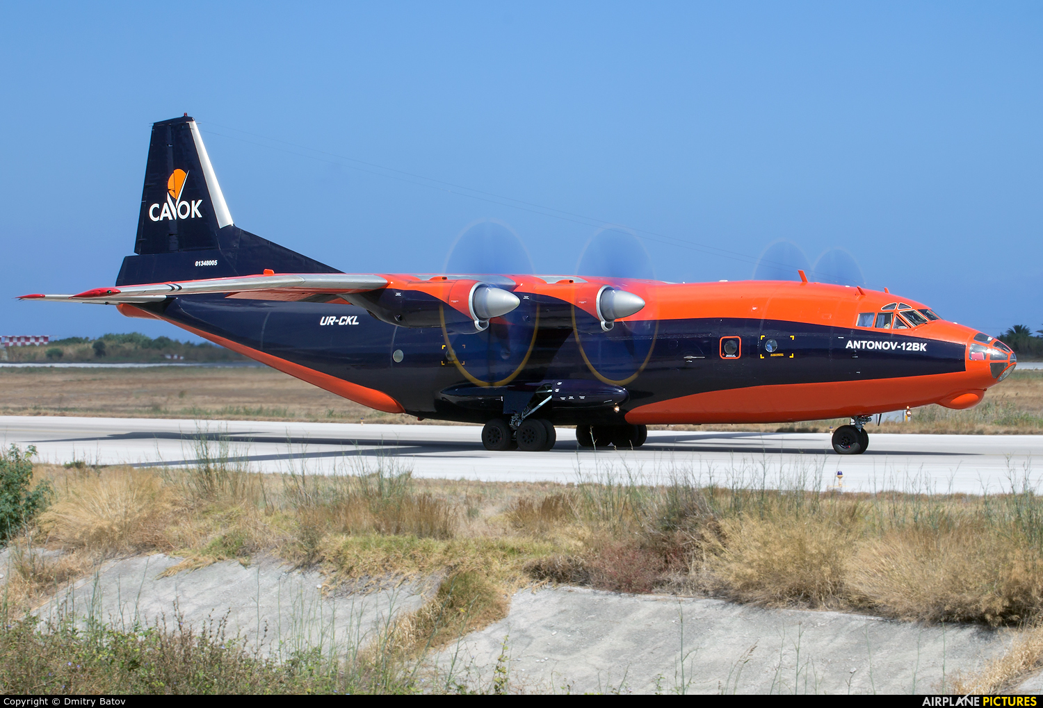 Cavok Air UR-CKL aircraft at Rhodes - Diagoras