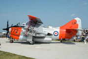 """Rescued Fairey Gannet """"Janet"""" rolled out at Oshkosh title="""