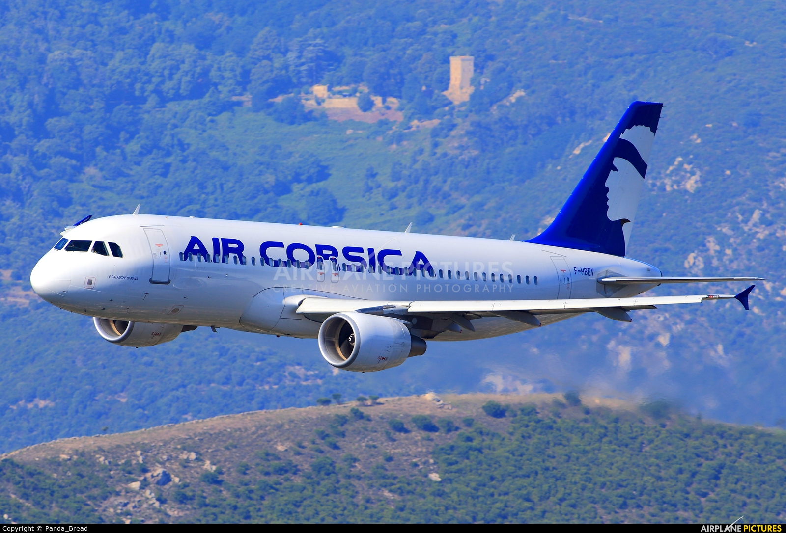 Air Corsica F-HBEV aircraft at Ajaccio - Campo dell