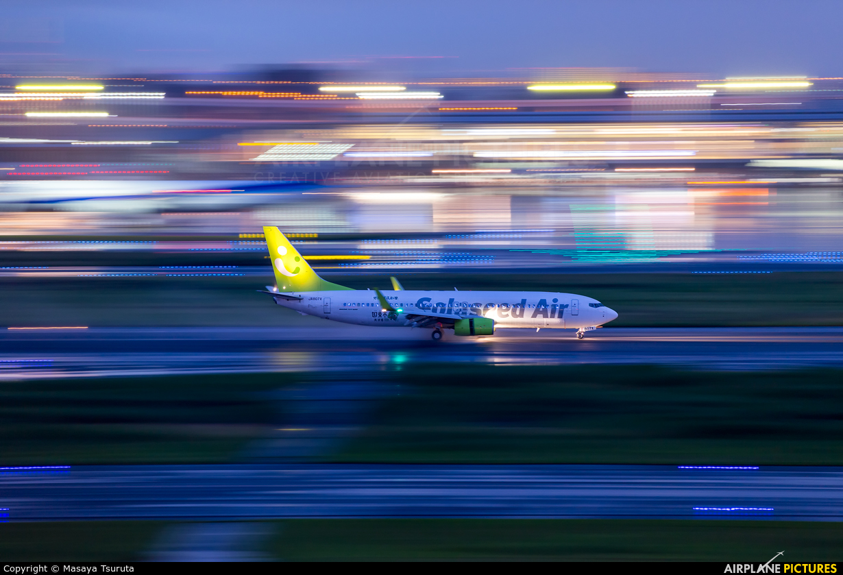 Solaseed Air - Skynet Asia Airways JA807X aircraft at Tokyo - Haneda Intl