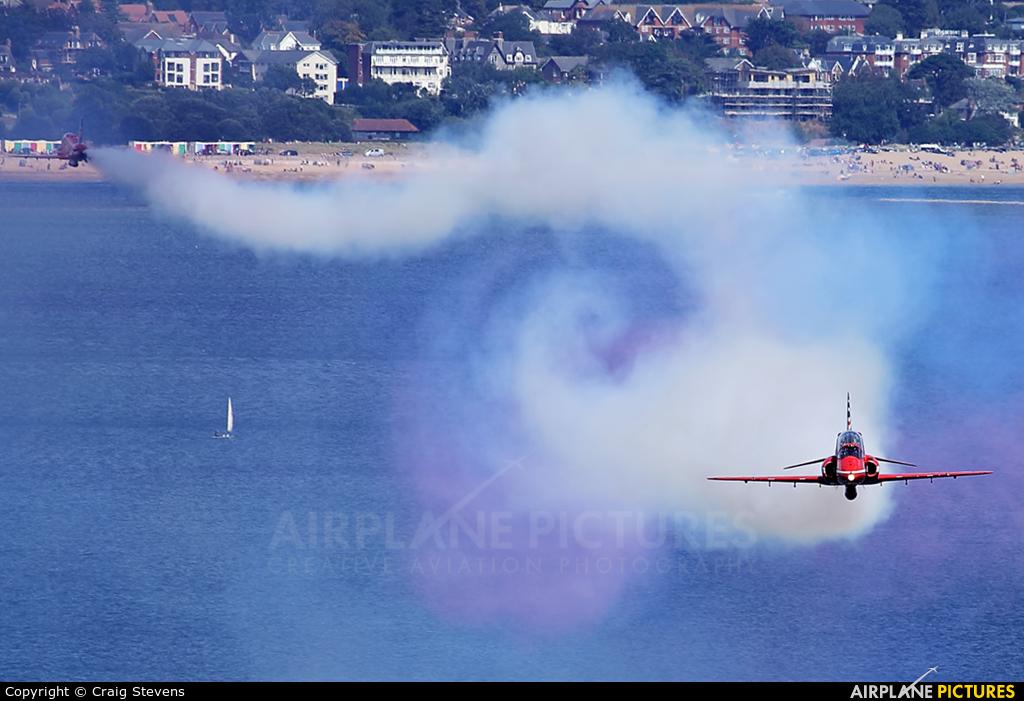 """Royal Air Force """"Red Arrows"""" XX244 aircraft at Dawlish"""