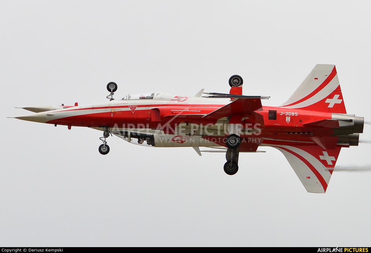 Switzerland - Air Force:  Patrouille de Suisse J-3085 aircraft at Fairford