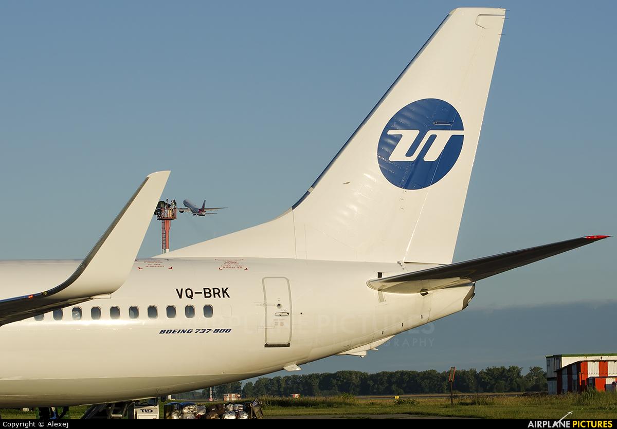 UTair VQ-BRK aircraft at Novosibirsk