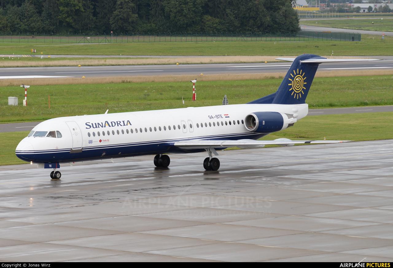 SunAdria 9A-BTE aircraft at Zurich