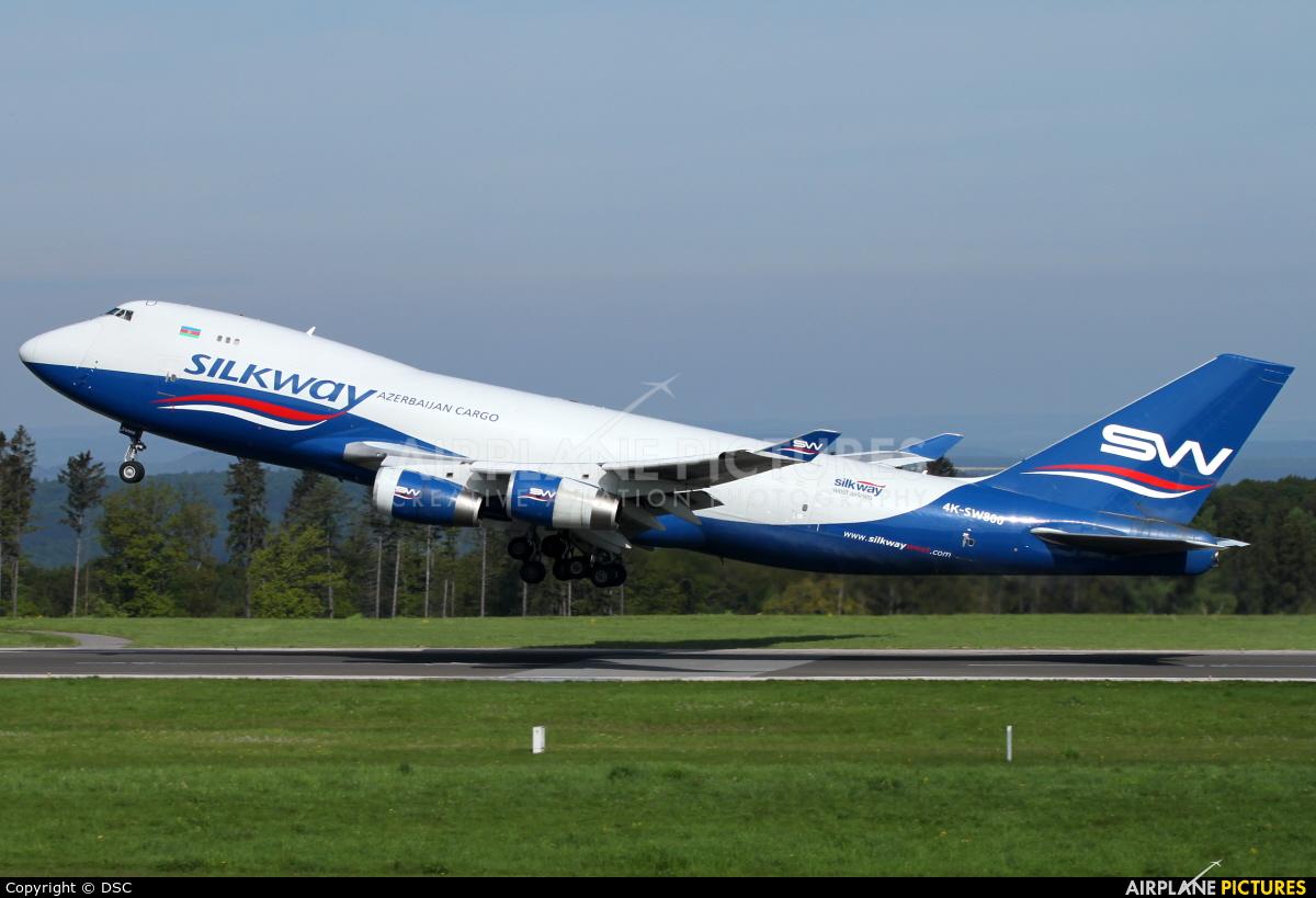 Silk Way Airlines 4K-SW800 aircraft at Frankfurt - Hahn