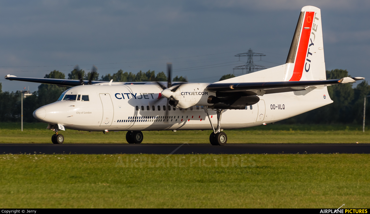 CityJet OO-VLQ aircraft at Amsterdam - Schiphol