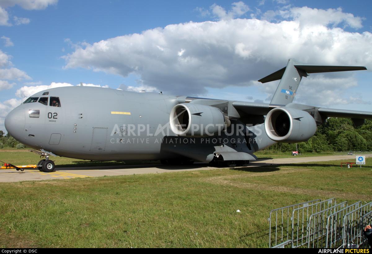 NATO 08-0002 aircraft at Uden - Volkel