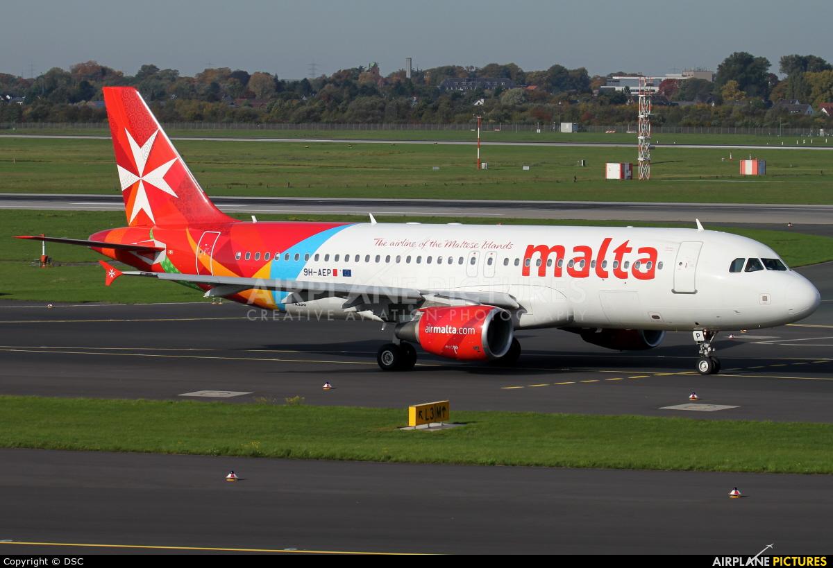 Air Malta 9H-AEP aircraft at Düsseldorf