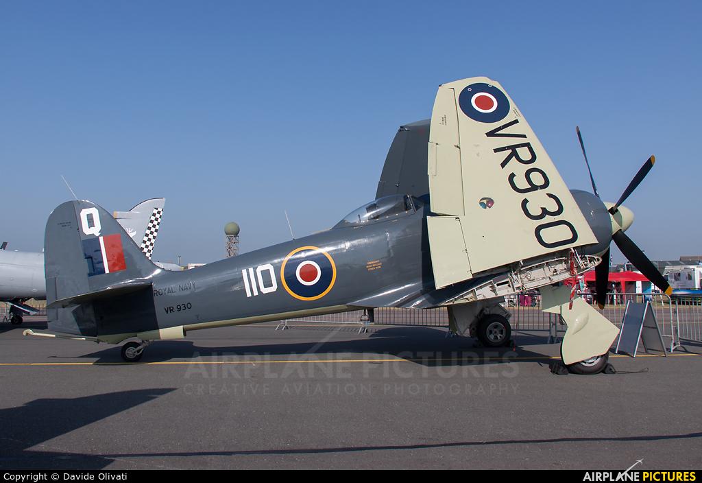 "Royal Navy ""Historic Flight"" VR930 aircraft at Yeovilton"