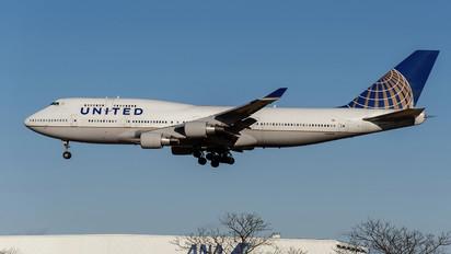 N128UA - United Airlines Boeing 747-400