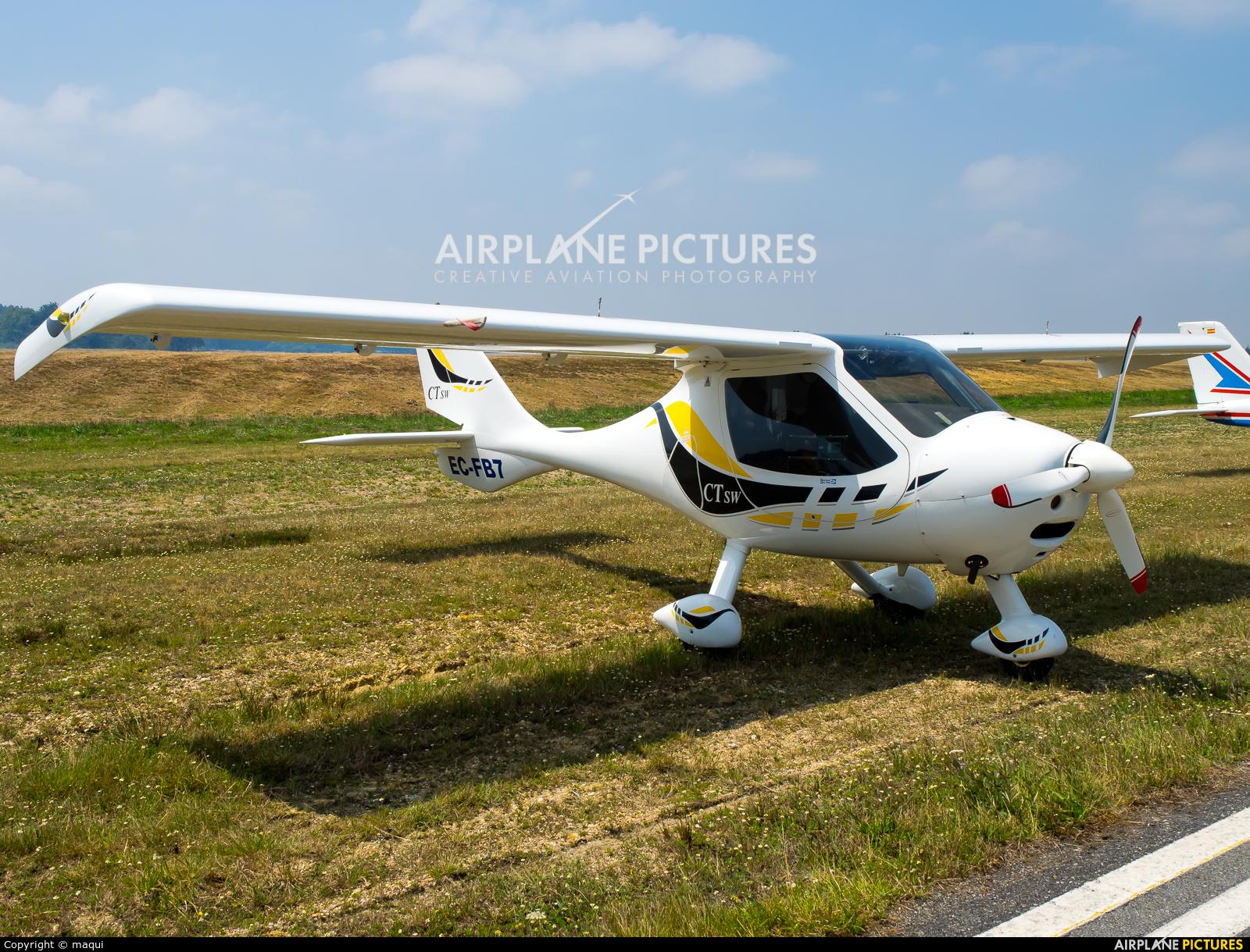 Private EC-FB7 aircraft at Lugo - Rozas