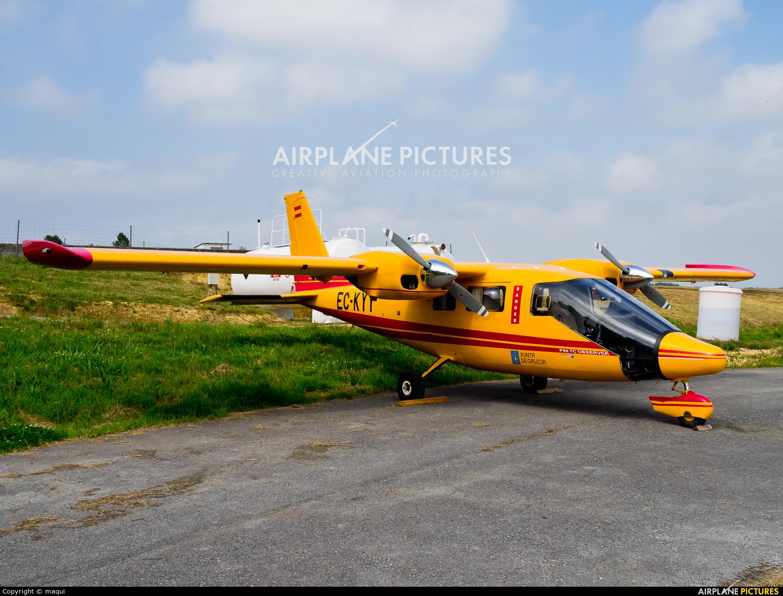 Private EC-KYY aircraft at Lugo - Rozas